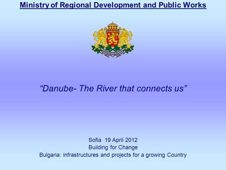 Ministry of Regional Development and Public Works