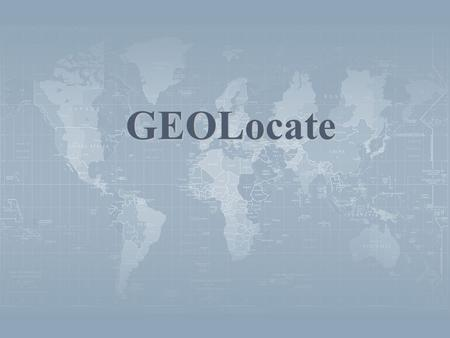 GEOLocate. GEOLocate – Automated Georeferencing Desktop application for automated georeferencing of natural history collections data Locality description.