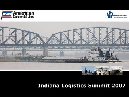 Indiana Logistics Summit 2007. U.S. Barge Transportation – An Overview.
