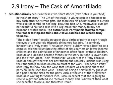 Irony in the cask of amontillado thesis popular article writer service for mba