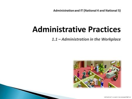 Administration and IT (National 4 and National 5)