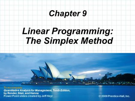 Linear Programming: The Simplex Method
