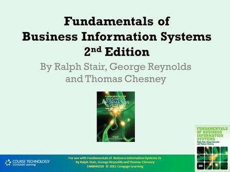 Fundamentals of Business Information Systems 2nd Edition