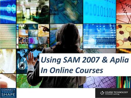 Using SAM 2007 & Aplia In Online Courses. Don Danner San Francisco State University