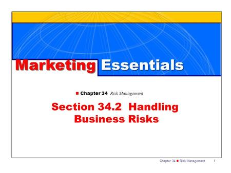 Section 34.2 Handling Business Risks