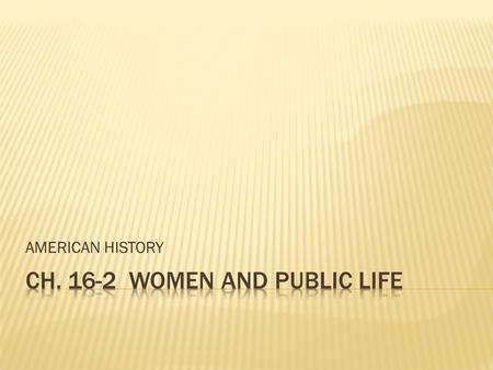 CH WOMEN AND PUBLIC LIFE