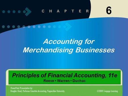 Principles of Financial Accounting, 11e