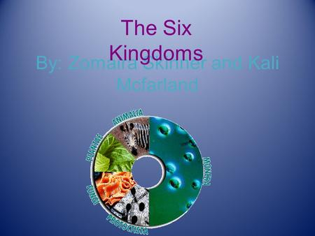 By: Zomaira Skinner and Kali Mcfarland The Six Kingdoms.