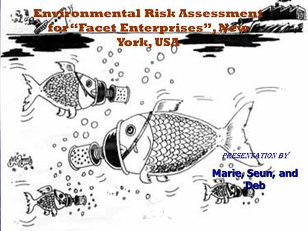 "Environmental Risk Assessment for ""Facet Enterprises"", New York, USA Presentation by Marie, Seun, and Deb."