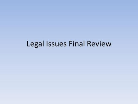 Legal Issues Final Review. Multiple Choice What is the situation in which a lawyer sues another lawyer for a serious error that caused a client to lose.