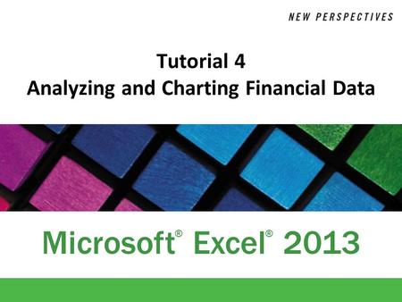 Tutorial 4 Analyzing and Charting Financial Data