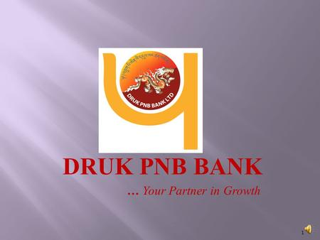 DRUK PNB BANK … Your Partner in Growth