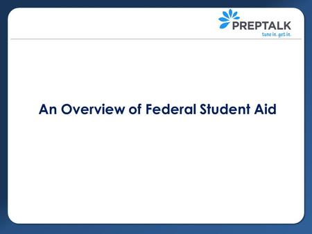 An Overview of Federal Student Aid.  Federal Student Aid (FSA) is provided by the US Department of Education and helps students pay for expenses at post-secondary.
