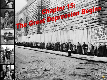 The Great Depression Begins