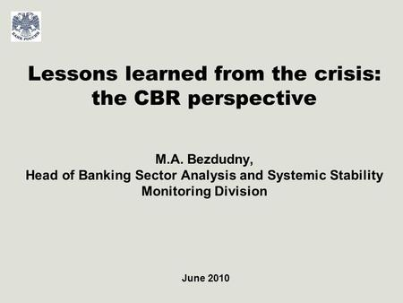 2 Major vulnerability factors of the Banking sector and Russian economy Major Risks Macroeconomic factors: Poor diversification of economy; High dependence.