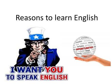 Reasons to learn English