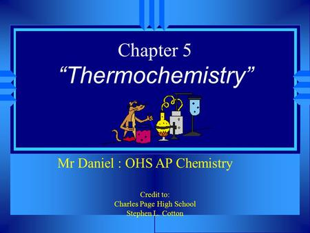 "Chapter 5 ""Thermochemistry"""