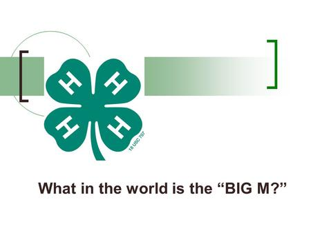 "What in the world is the ""BIG M?"". Mnenomic devices? A mnemonic device (pronounced neh-mon-ik) is a memory aid. Mnemonics are often verbal, something."