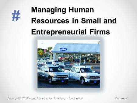 Managing Human Resources in Small and Entrepreneurial Firms