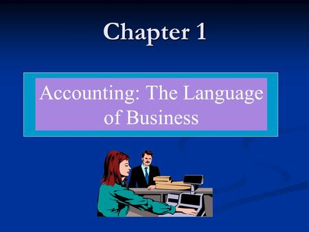 Accounting: The Language