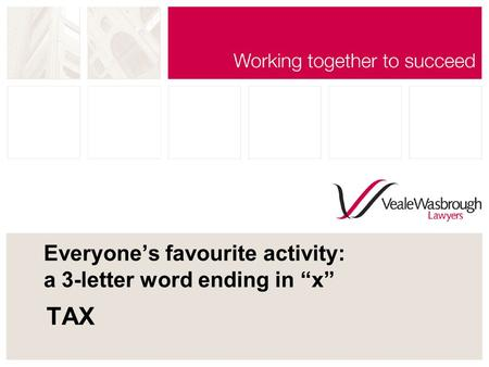 "Everyone's favourite activity: a 3-letter word ending in ""x"" TAX."