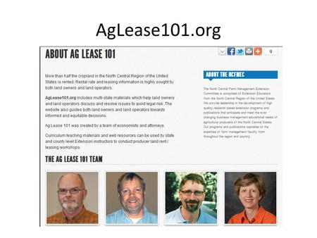 AgLease101.org. All publications… Are focused on developing equitable lease agreements Discuss advantages and disadvantages of the lease type to.
