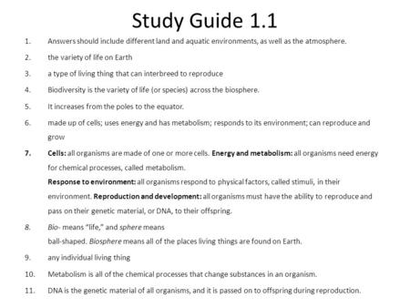 key concept biology is the study of all forms of life ppt download rh slideplayer com Campbell's Biology 7th Edition Study Guide High School Biology Study Guide