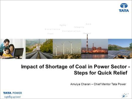 …Message Box ( Arial, Font size 18 Bold) Presentation Title ( Arial, Font size 28 ) Date, Venue, etc..( Arial, Font size 18 ) Impact of Shortage of Coal.