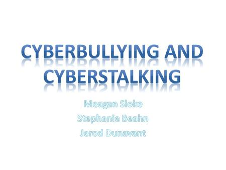 Online bullying called cyberbullying Its where people use text messages Internet, cell phones, or other devices to send or post text or images intended.