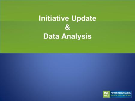 Initiative Update & Data Analysis. Themes for the Day Lessons Learned and Best Practices Staging of Pressure Ulcers Care Coordination.