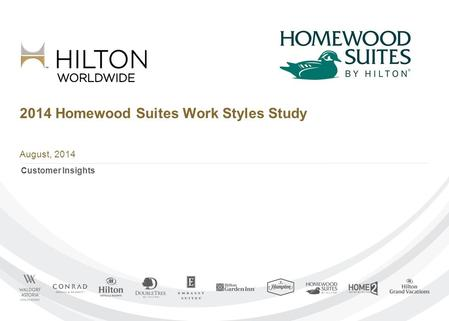 2014 Homewood Suites Work Styles Study August, 2014 Customer Insights.