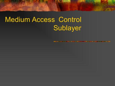 Medium Access Control Sublayer. Static Channel Allocation FDM TDM Wastage of resources when some of the users are idle. What if the number of users increase.