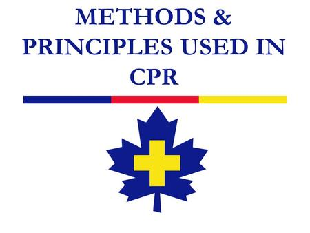 METHODS & PRINCIPLES USED IN CPR. 2 Introduction  Methods and procedures for managing: obstructed airways artificial respiration (AR) cardiopulmonary.