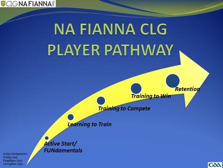 NA FIANNA CLG PLAYER PATHWAY
