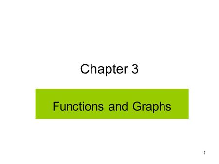 MAT 105 SP09 Functions and Graphs