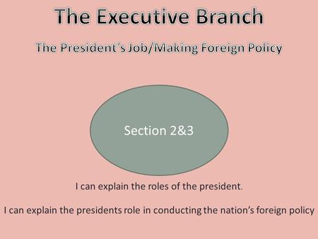 The President's Job/Making Foreign Policy