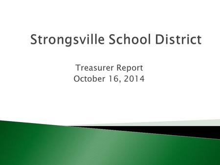Treasurer Report October 16, 2014.  Ohio Revised Code 3313.642 and Strongsville Board policy 6152 Different provisions regarding the charging of fees.