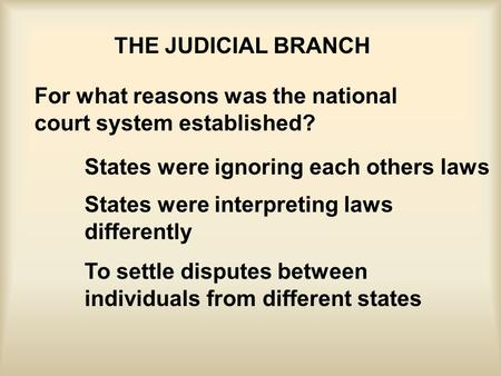 The Judicial Branch--Chapter 18