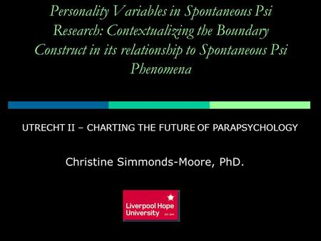 Christine Simmonds-Moore, PhD.