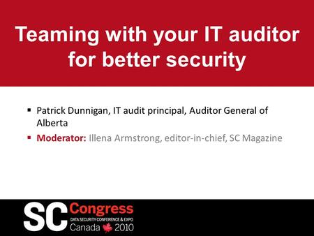 Teaming with your IT auditor for better security