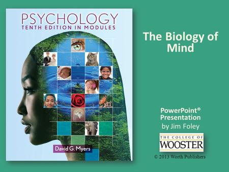 PowerPoint® Presentation by Jim Foley © 2013 Worth Publishers The Biology of Mind.