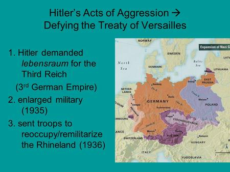 Hitler's Acts of Aggression  Defying the Treaty of Versailles