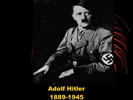 Adolf Hitler 1889-1945. Background Hitler was born in Austria Wanted to be an artist Rejected from Vienna's art academy Is lost until WW I Serves in the.