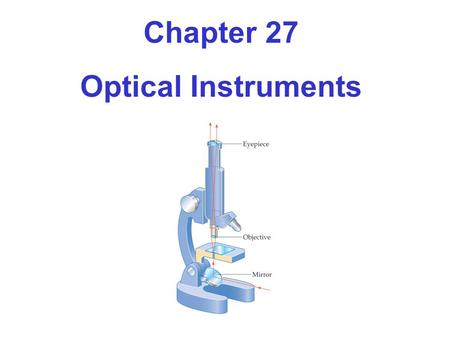 Chapter 27 Optical Instruments.