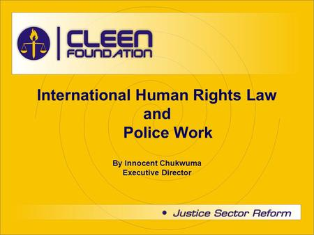International Human Rights Law and Police Work