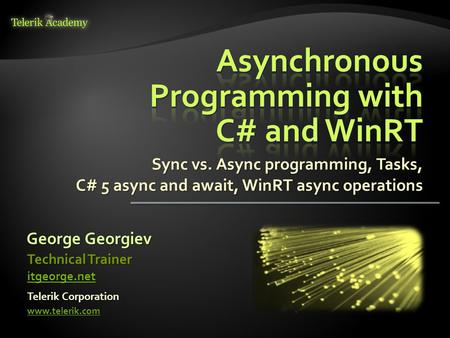 Asynchronous Programming with C# and WinRT
