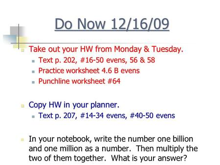 Do Now 6 10 13 Copy Hw In Your Planner Ppt Download