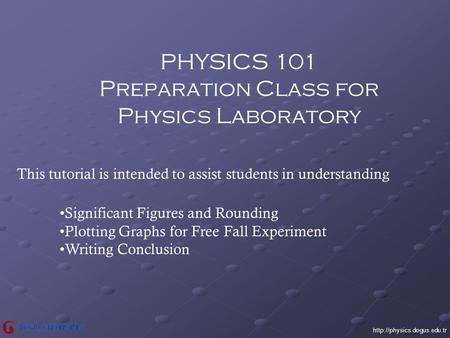 Preparation Class for Physics Laboratory