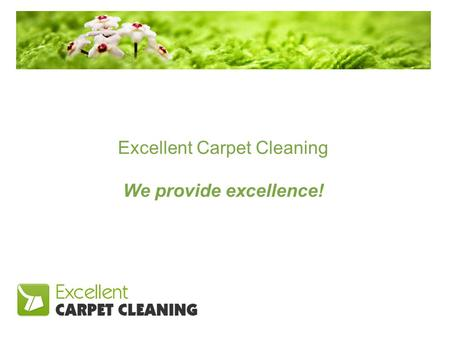 Excellent Carpet Cleaning We provide excellence!.