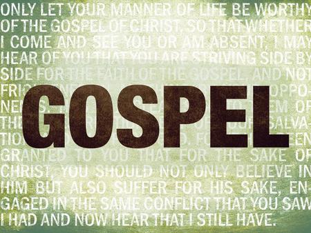 Defined by the Gospel 1.Gospel Message – What we believe. 2.Gospel Community – Who we are. 3.Gospel Mission – What we do. 4.Gospel Suffering – How we.